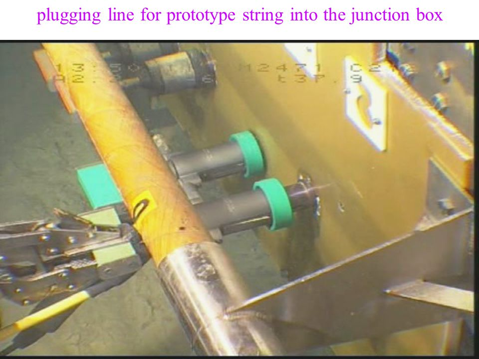 10 August 2004Vth Rencontres du Vietnam - L. Sulak13 plugging line for prototype string into the junction box