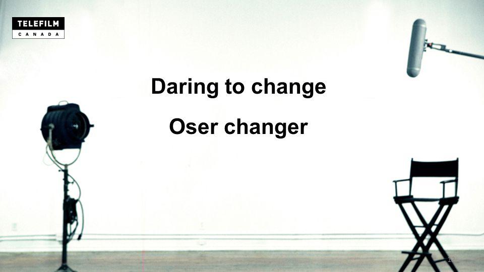 Daring to change Oser changer 12