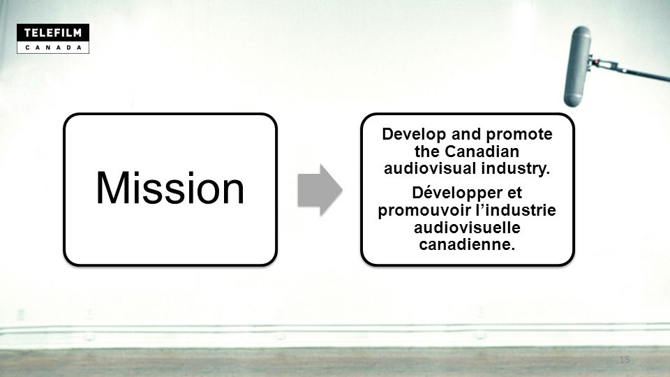 Mission Develop and promote the Canadian audiovisual industry.