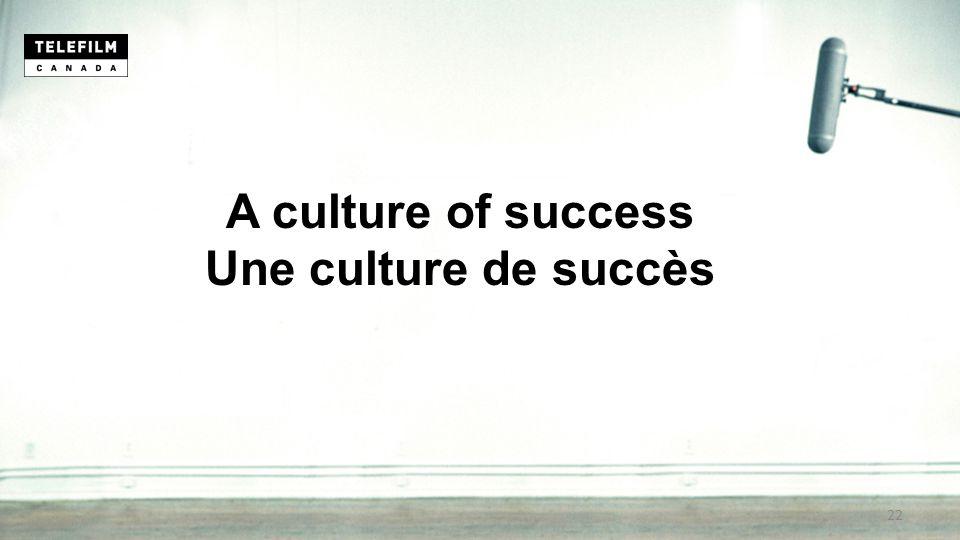 A culture of success Une culture de succès 22