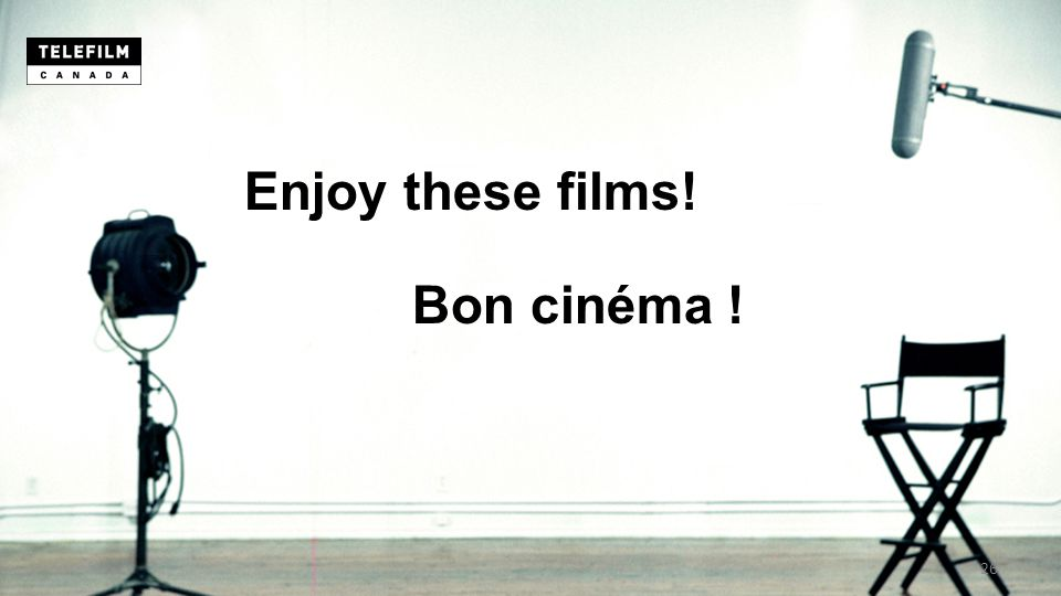 Bon cinéma ! Enjoy these films! 26