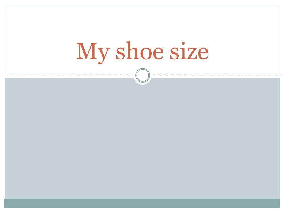 My shoe size