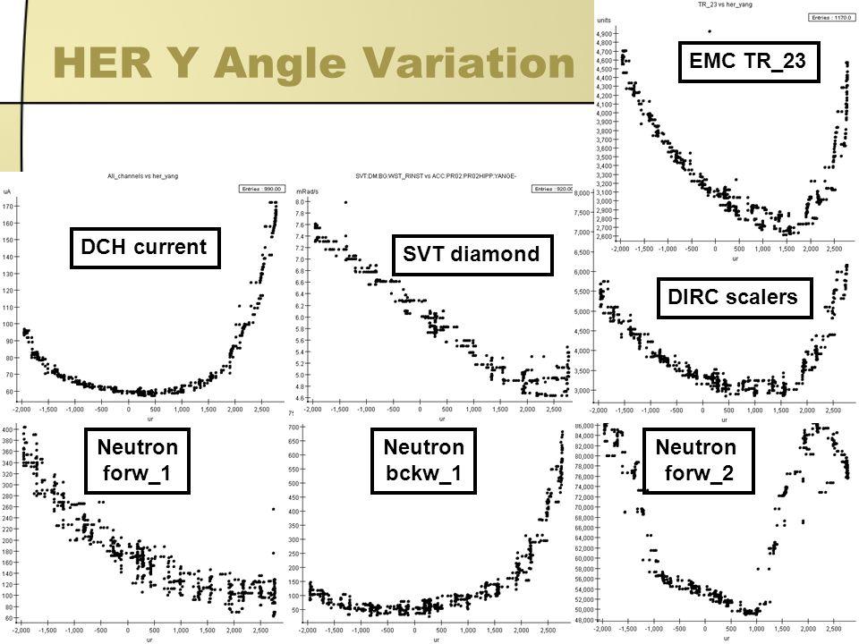 6 Neutron forw_1 Neutron bckw_1 Neutron forw_2 EMC TR_23 DCH current SVT diamond DIRC scalers