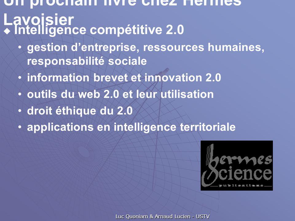 Un prochain livre chez Hermés Lavoisier  Intelligence compétitive 2.0 gestion d'entreprise, ressources humaines, responsabilité sociale information b