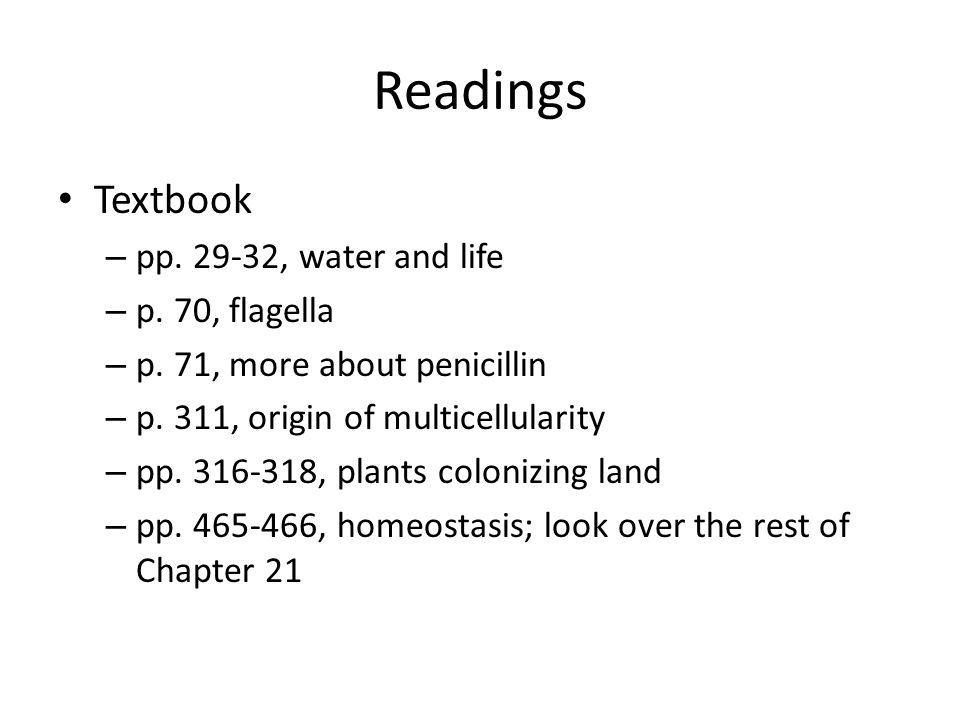 Readings Text – Review Chapter 21 – pp.