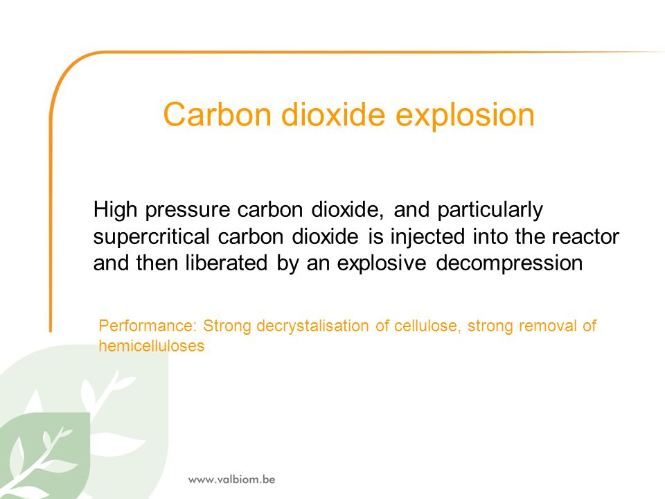 Carbon dioxide explosion High pressure carbon dioxide, and particularly supercritical carbon dioxide is injected into the reactor and then liberated b
