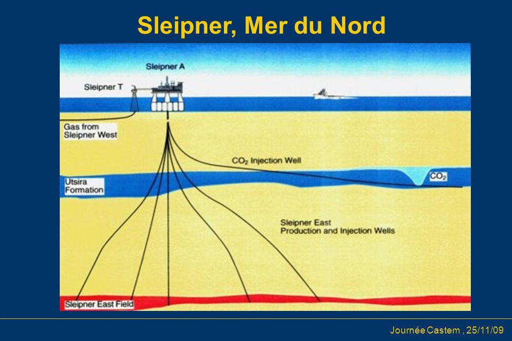 Journée Castem, 25/11/09 Sleipner, Mer du Nord et