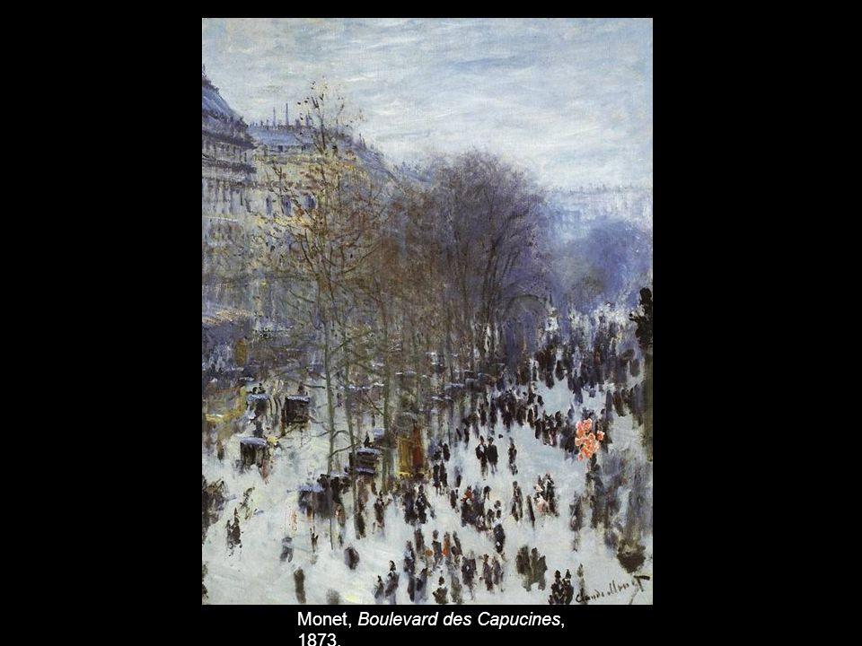 Monet, Boulevard des Capucines, 1873.