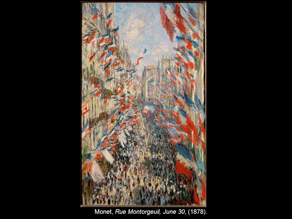 Monet, Rue Montorgeuil, June 30, (1878).