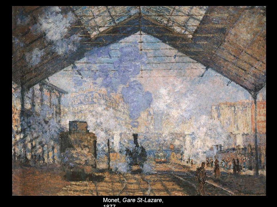 Monet, Gare St-Lazare, 1877.