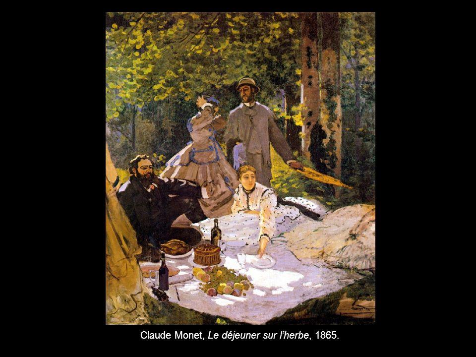 Claude Monet, Le déjeuner sur l'herbe, 1865.