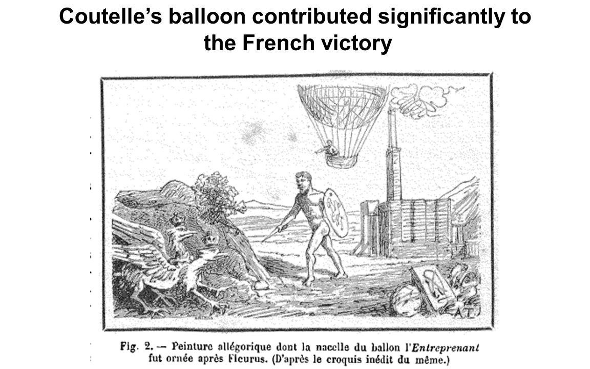 Coutelle's balloon contributed significantly to the French victory