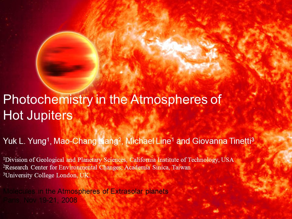 Photochemistry in the Atmospheres of Hot Jupiters Yuk L.