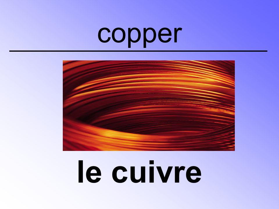 copper le cuivre