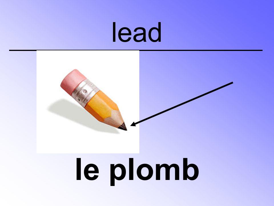 lead le plomb