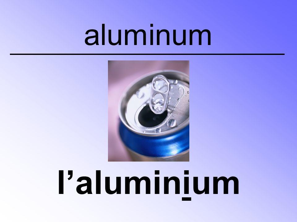aluminum l'aluminium