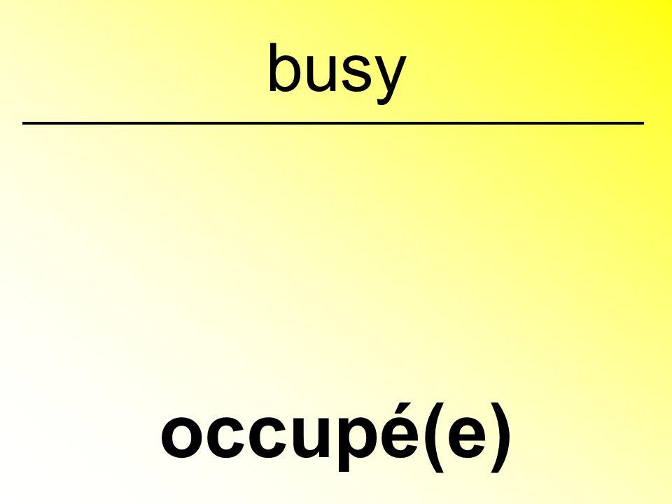 occupé(e) busy
