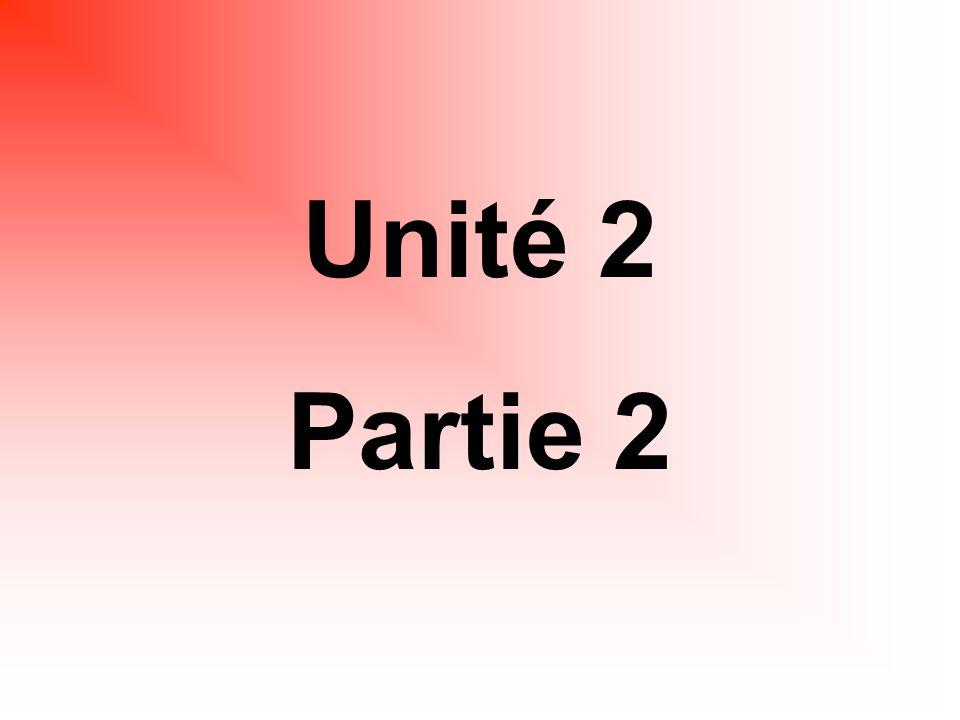 Unité 2 Partie 2