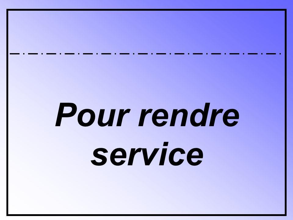 DEMANDER DE L'AIDE TO ASK FOR HELP
