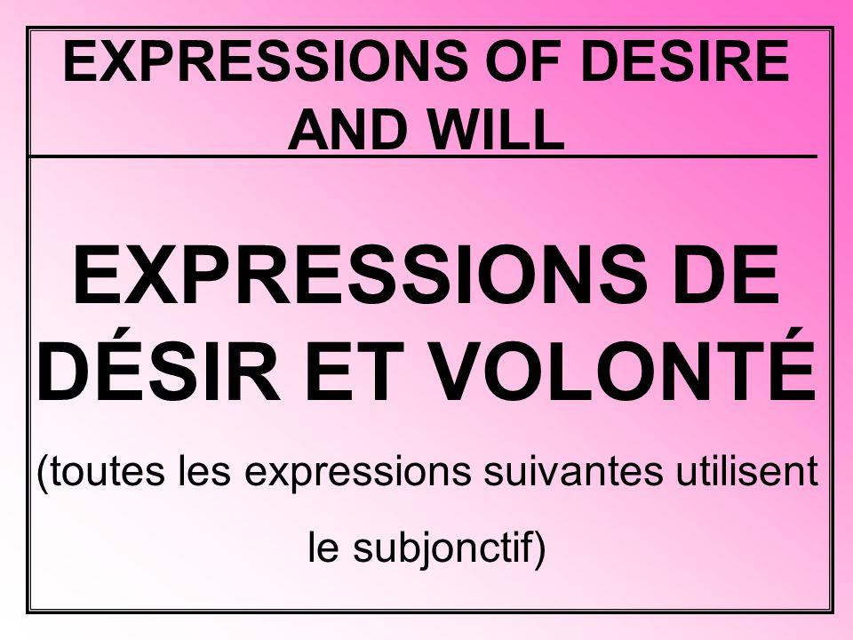 I prefer that… Je préfère que…