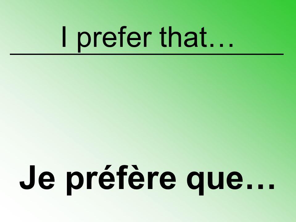 I wish that… Je souhaite que…
