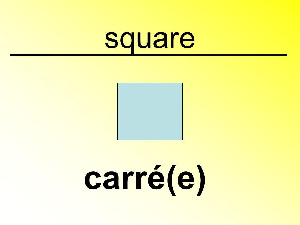 square carré(e)