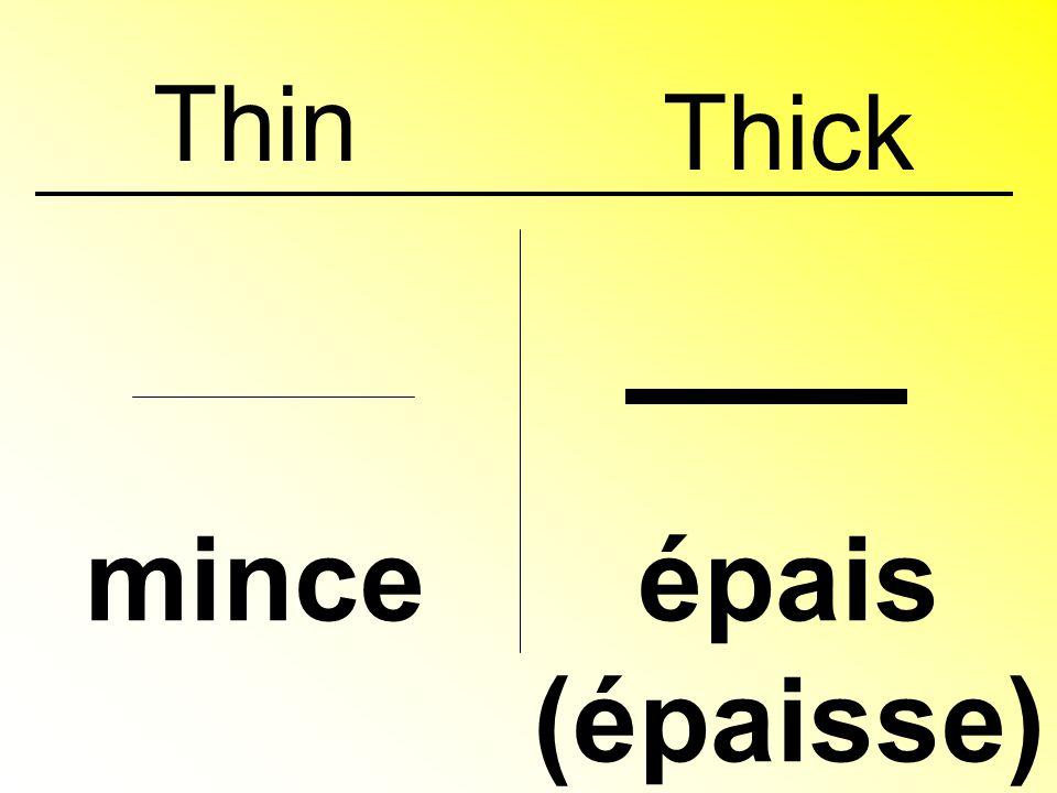 Thin minceépais (épaisse) Thick