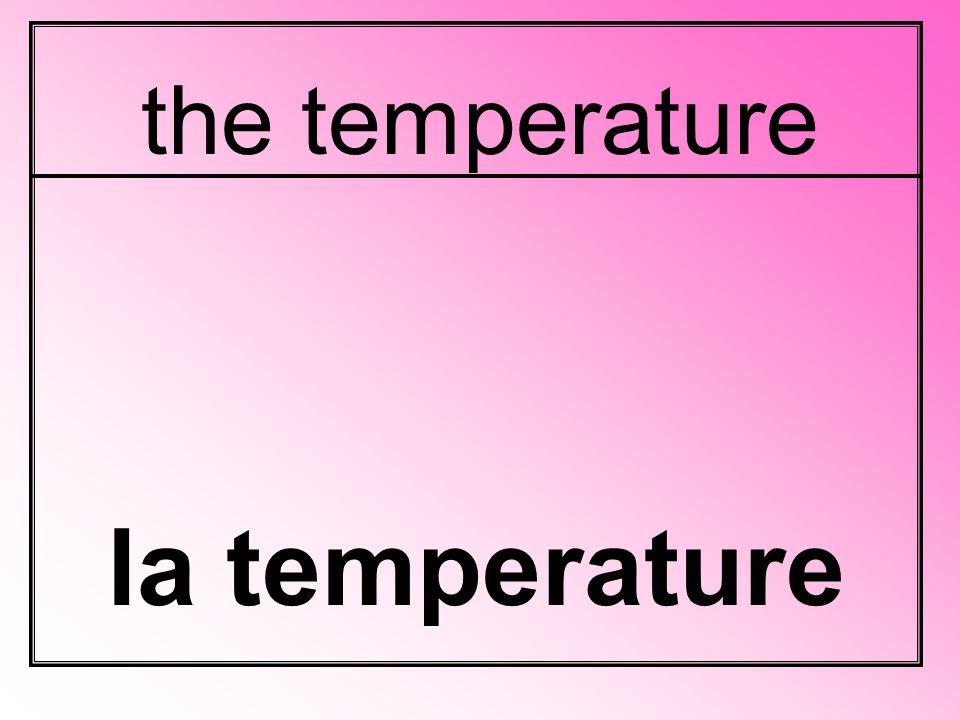 the temperature la temperature