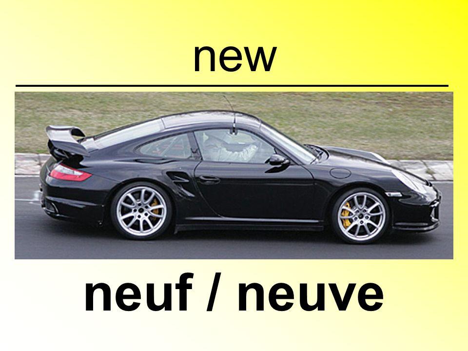new neuf / neuve