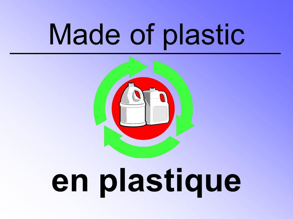 Made of plastic en plastique
