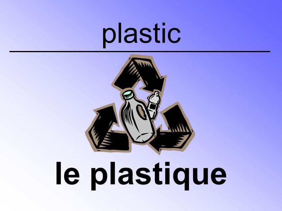 plastic le plastique