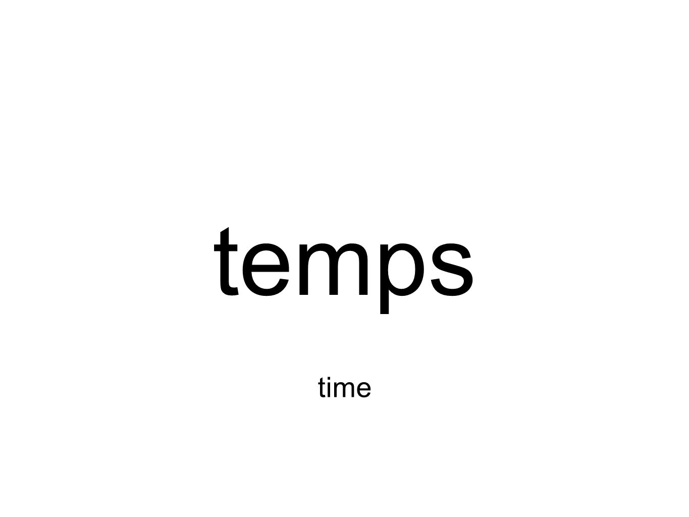 temps time