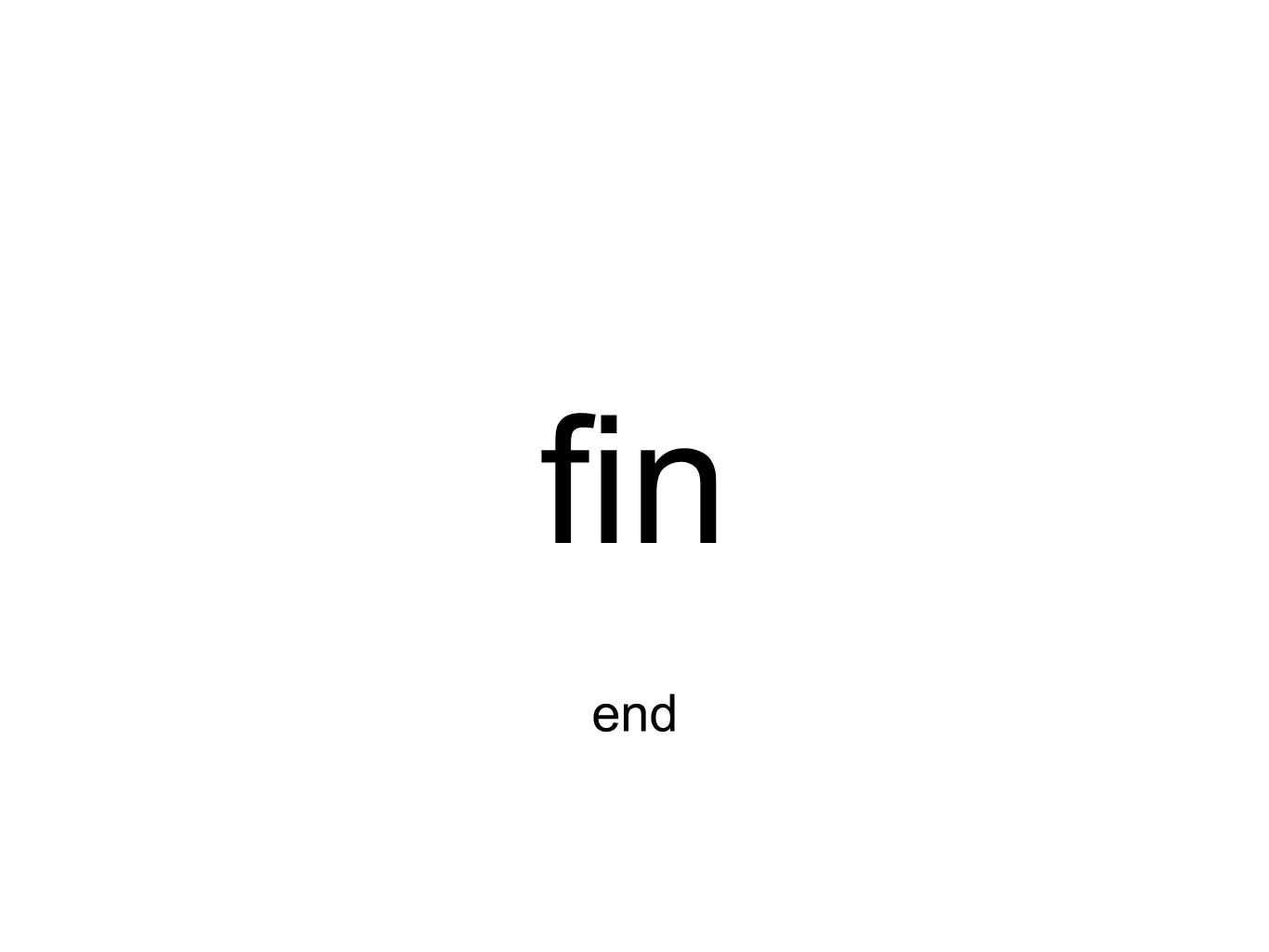fin end