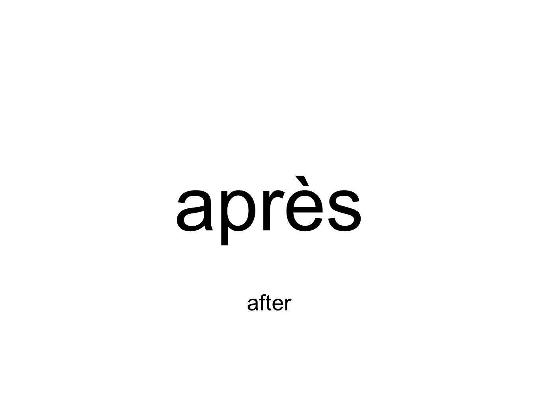 après after