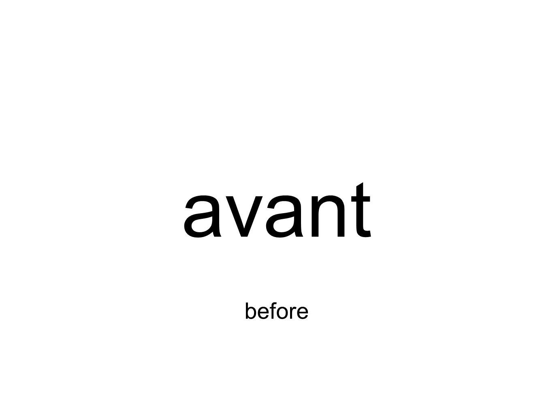 avant before