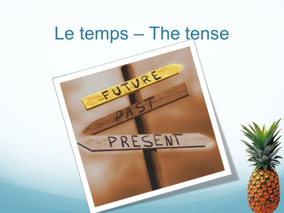 Le temps – The tense