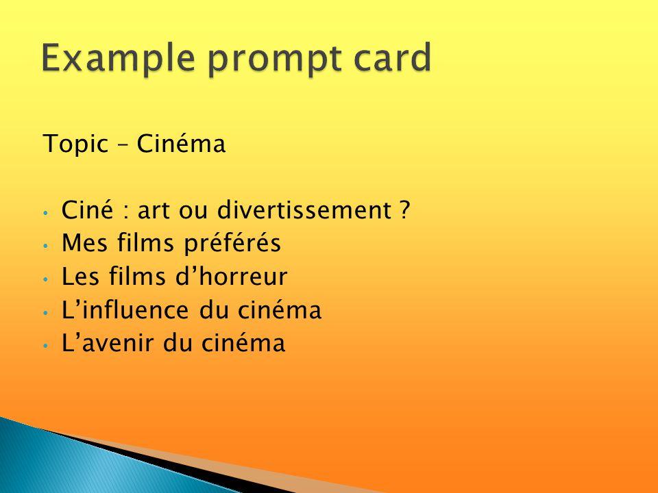 Topic – Cinéma Ciné : art ou divertissement .