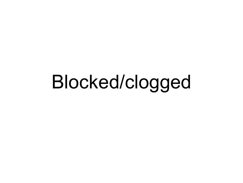 Blocked/clogged