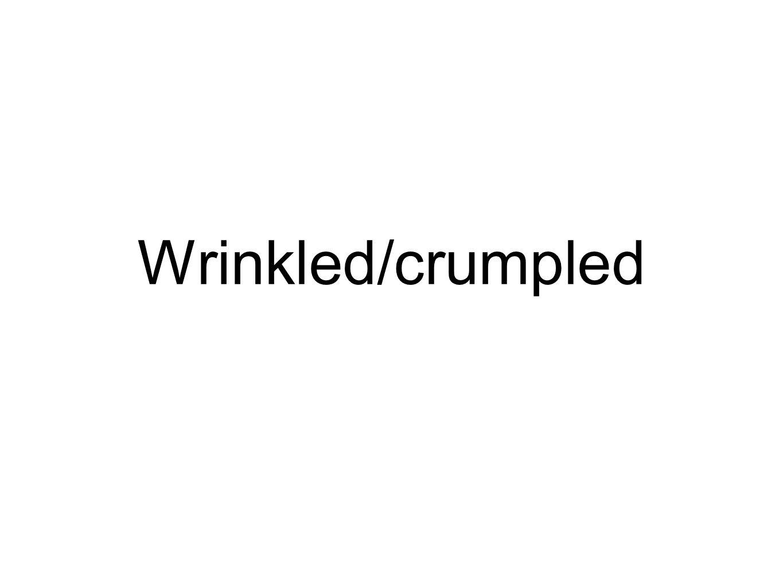 Wrinkled/crumpled