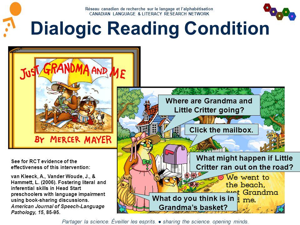 Réseau canadien de recherche sur le langage et l'alphabétisation CANADIAN LANGUAGE & LITERACY RESEARCH NETWORK Partager la science. Éveiller les espri