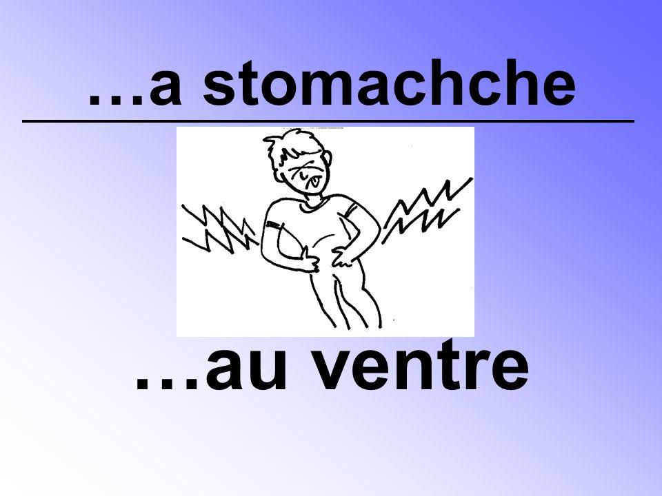 …a stomachche …au ventre