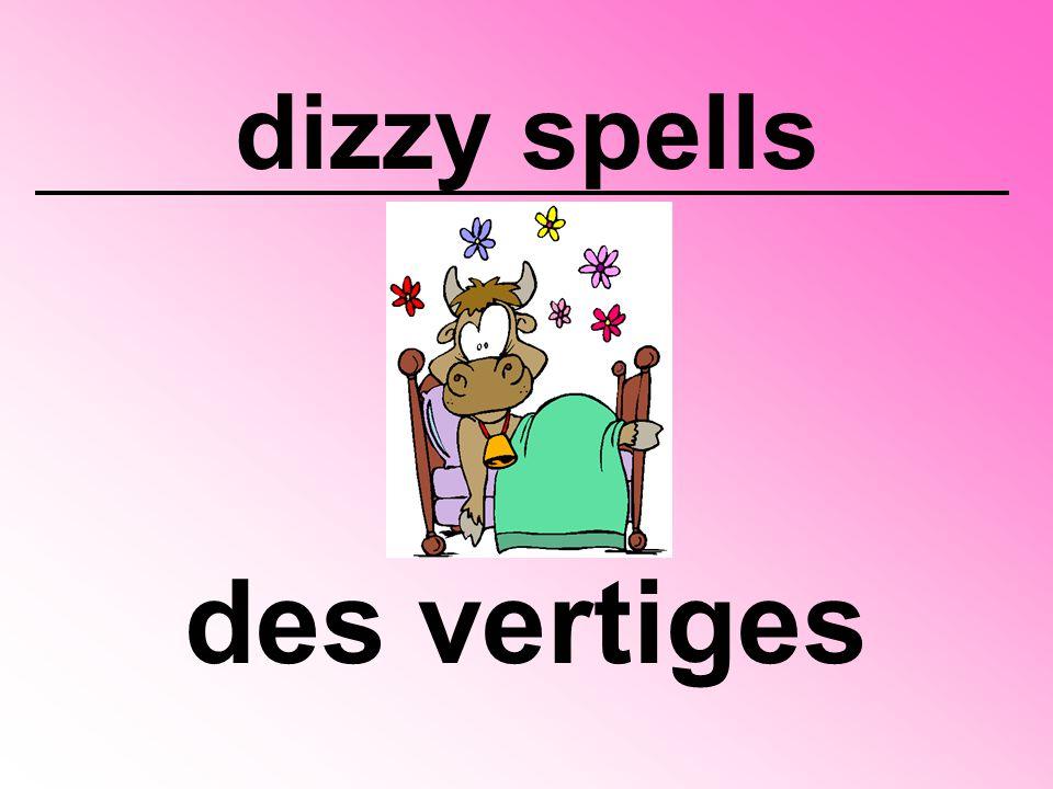 dizzy spells des vertiges