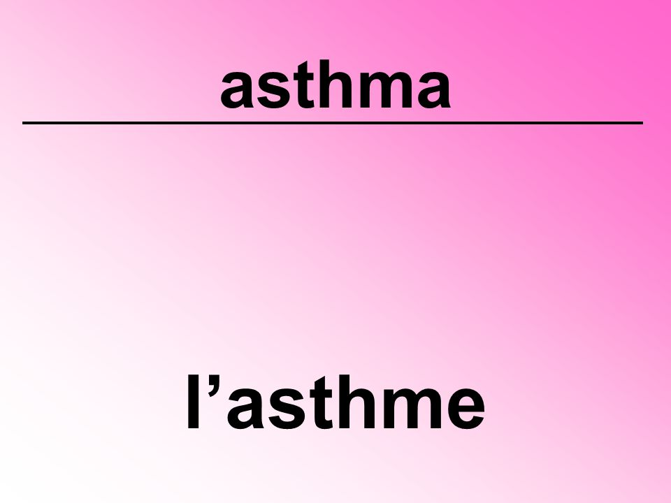 asthma l'asthme