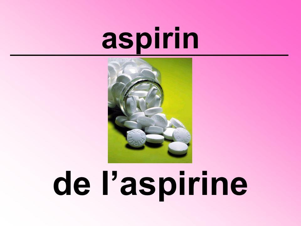 aspirin de l'aspirine