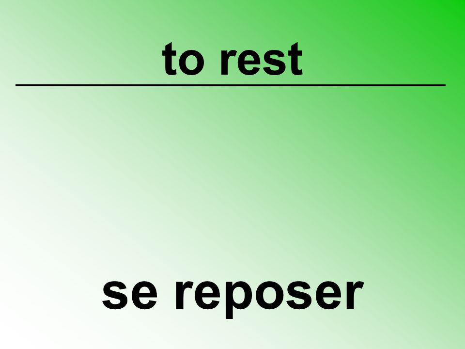 to rest se reposer