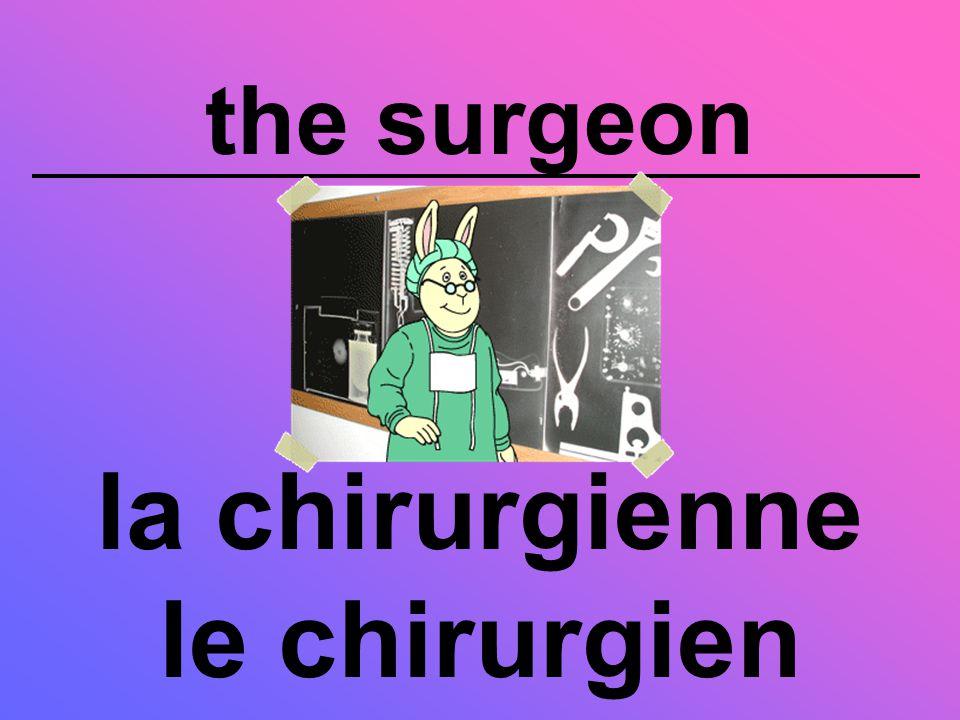 the surgeon la chirurgienne le chirurgien