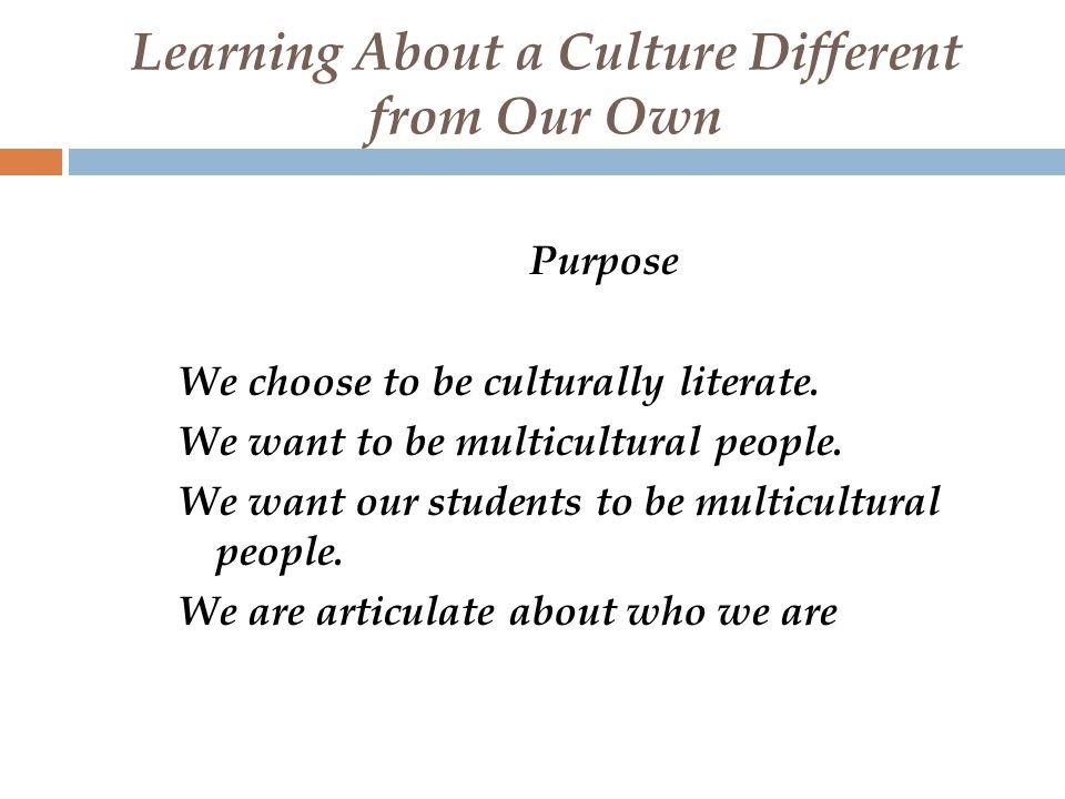 Seven Characteristics of Culture  History