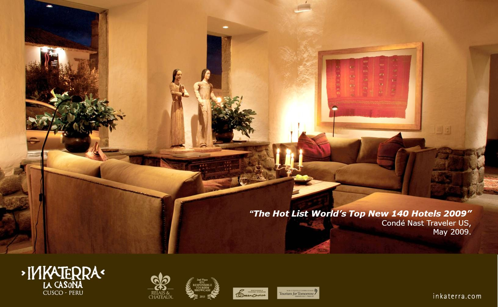 The Hot List World's Top New 140 Hotels 2009 Condé Nast Traveler US, May 2009.