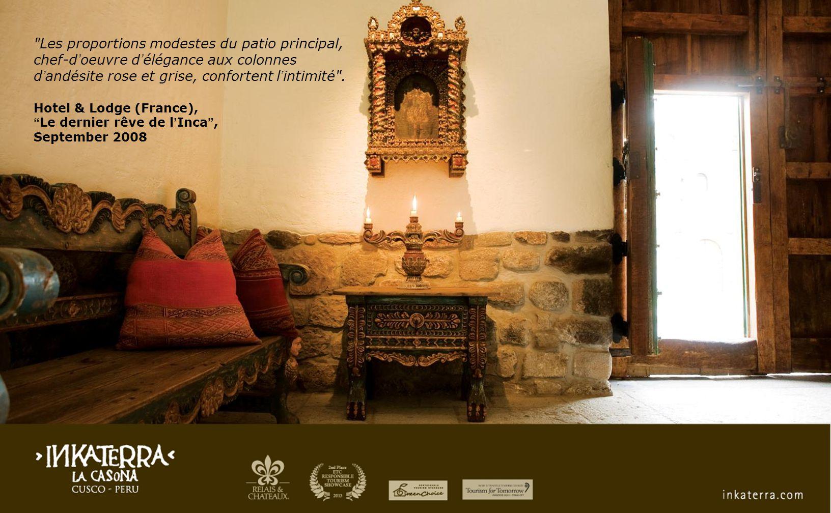 World's Best Hotels 2011 - Best Ambiance & Design Best of the Americas & Caribbean Condé Nast Traveller U.K January 2011