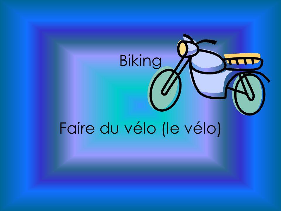 Biking Faire du vélo (le vélo)